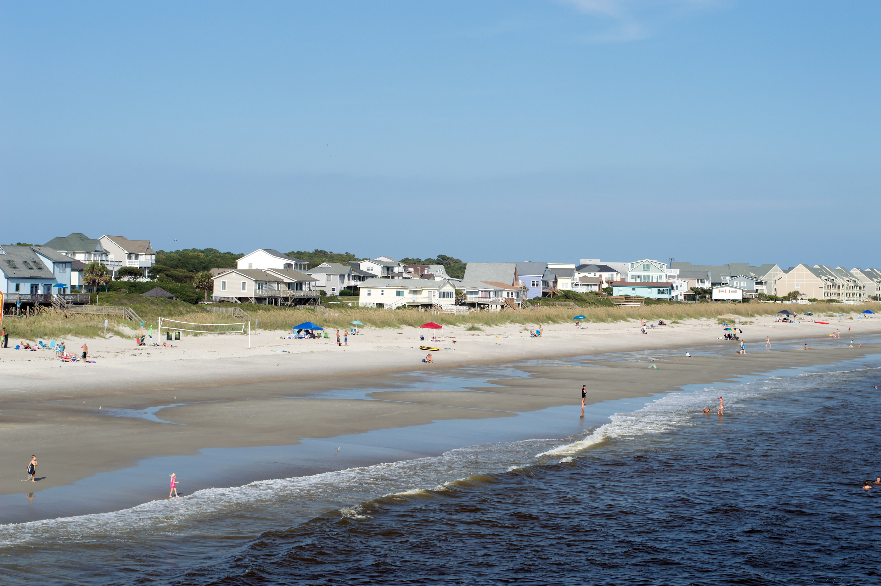Yaupon Beach,NC USA - Aug. 15: Yaupon Beach: The Yaupon Beach Strand photographed on August 15, 2014.